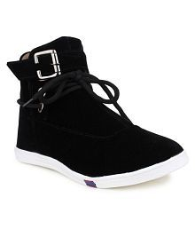 London Steps Black Casual Shoes