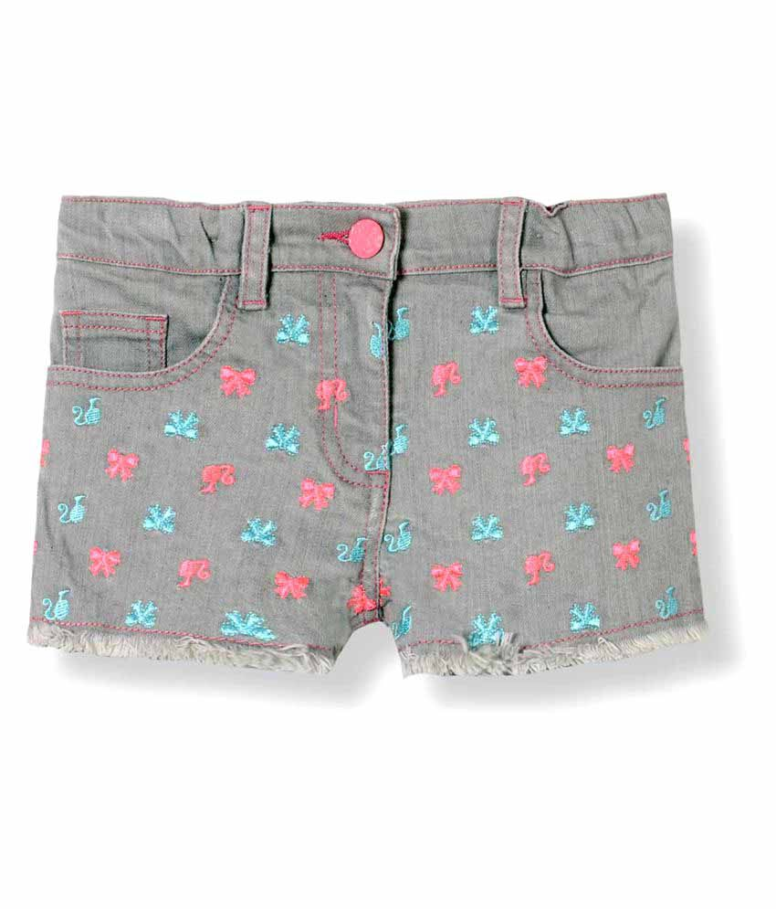 Barbie Grey Denim Shorts