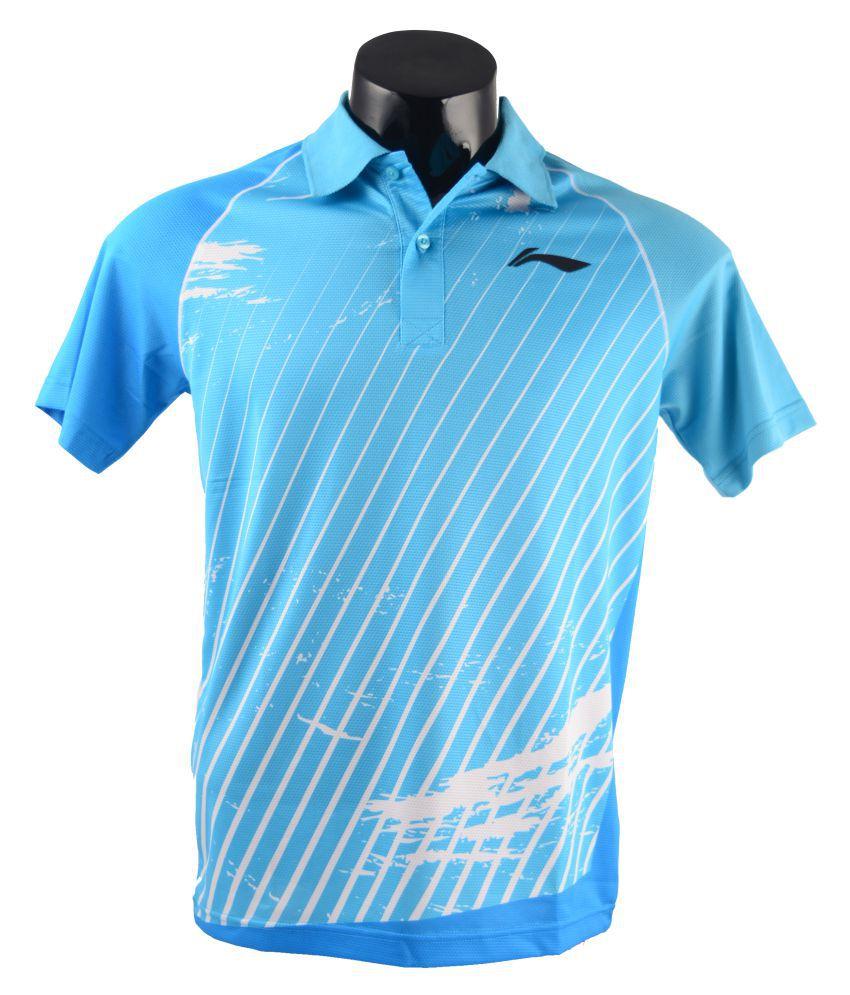 Li-Ning Blue Polyster T-Shirt