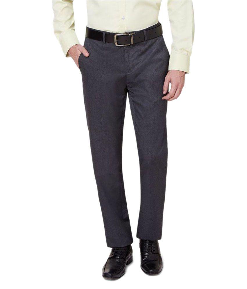 Ovation Grey Slim Flat Trousers