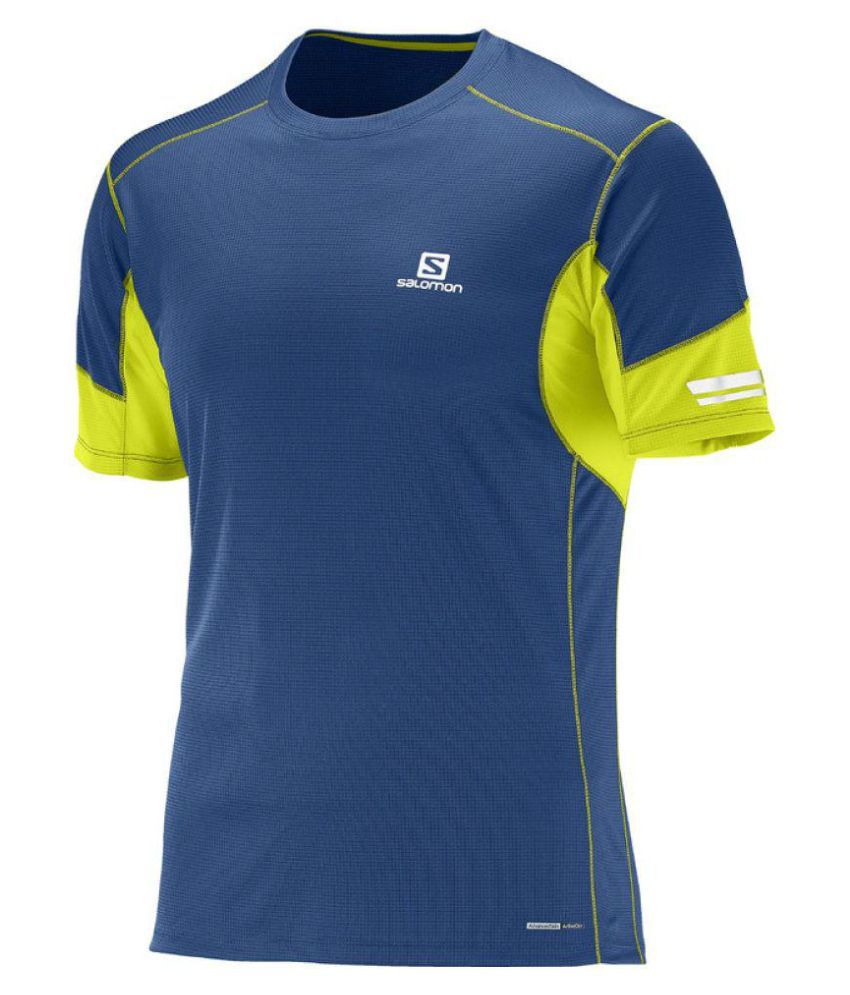 Salomon Blue Cotton T Shirt