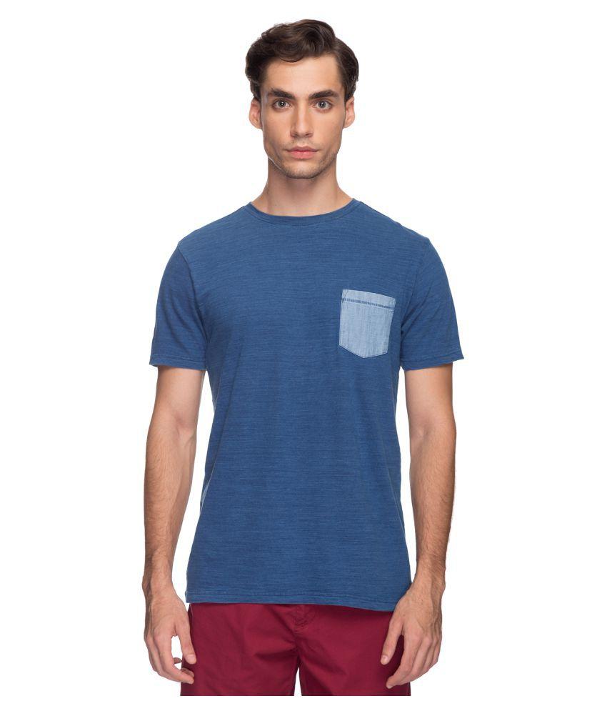 Cottonworld Blue Round T-Shirt