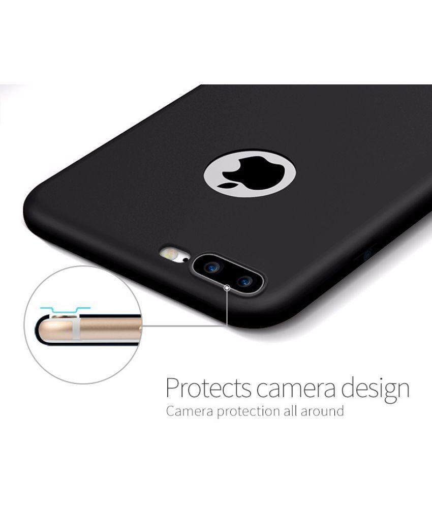 0a6e5b0a71e Apple iPhone 7 Plus Cover by IKAZEN - Black - Plain Back Covers ...