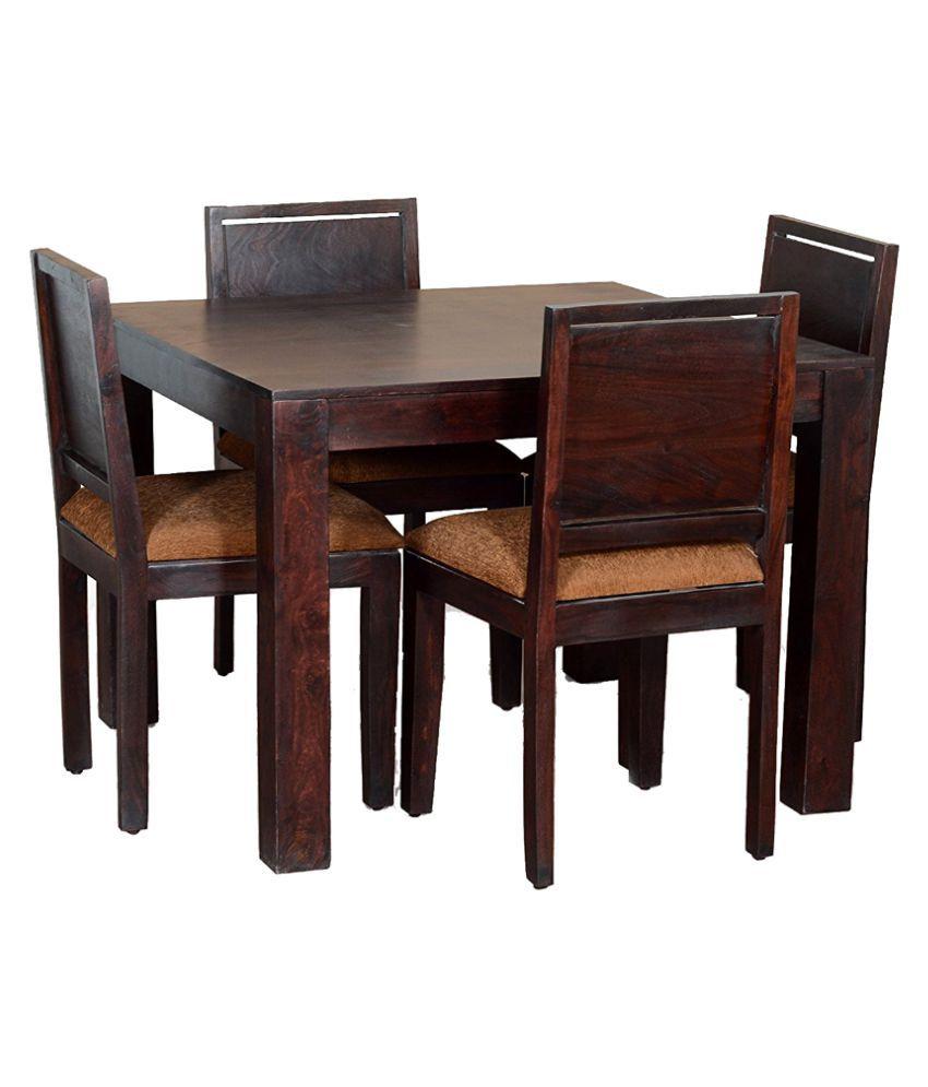 Woodfaber Sheesham Wood 4 Seater Dining Set Table Buy