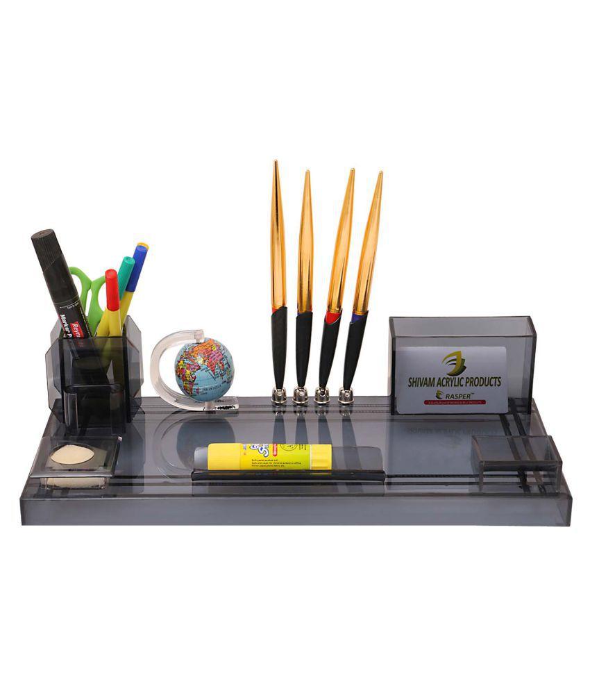 Rasper Multipurpose Acrylic Pen Stand With