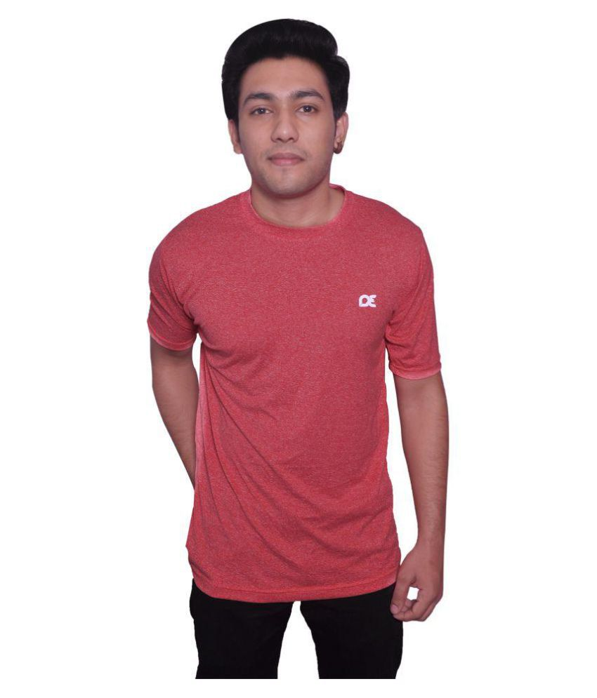 Dyed Colours Orange Polyester T-Shirt Single Pack