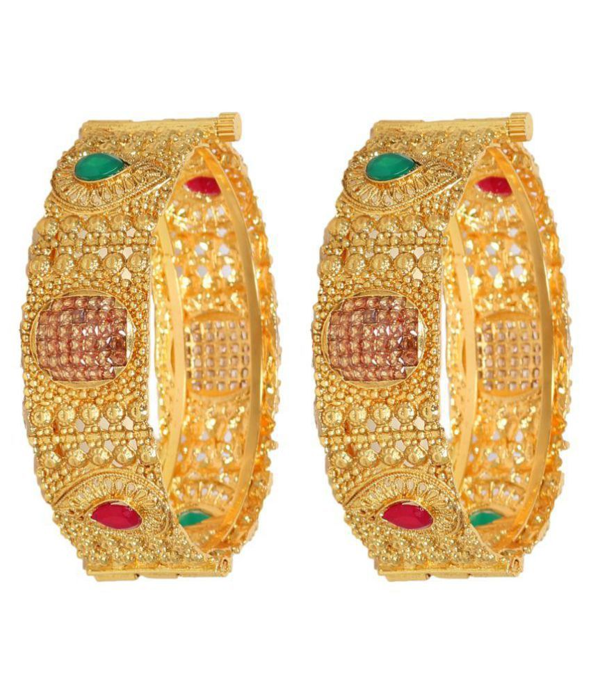 Penny Jewels American Diamond Kada Set