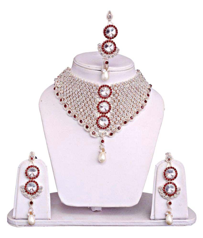 Jewels Guru Multicolor Alloy Necklace Set.