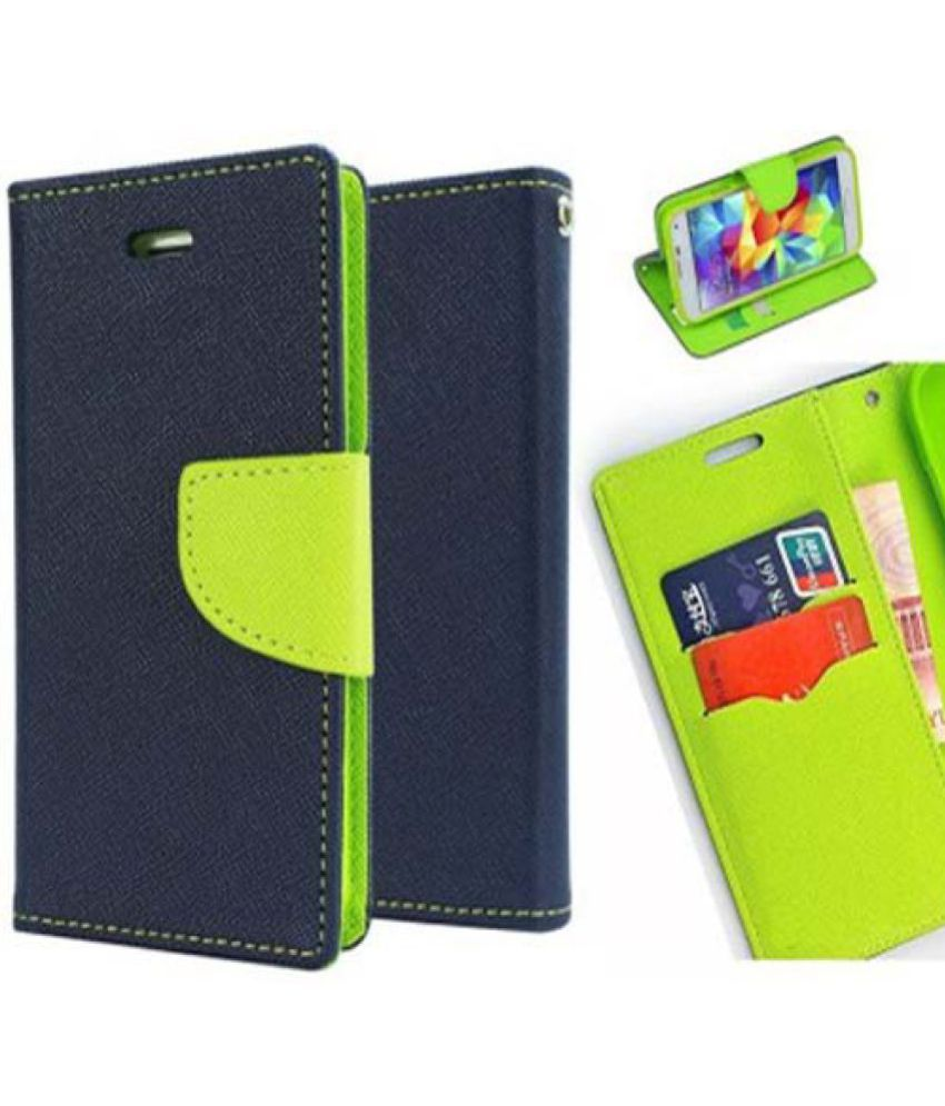 Nokia Lumia 525 Flip Cover by Red Plus Mercury - Blue
