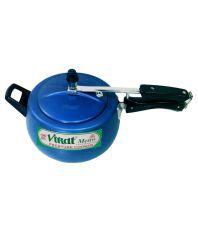 Virat Blue Curve 5.5 Ltrs Aluminium InnerLid Pressure Cooker