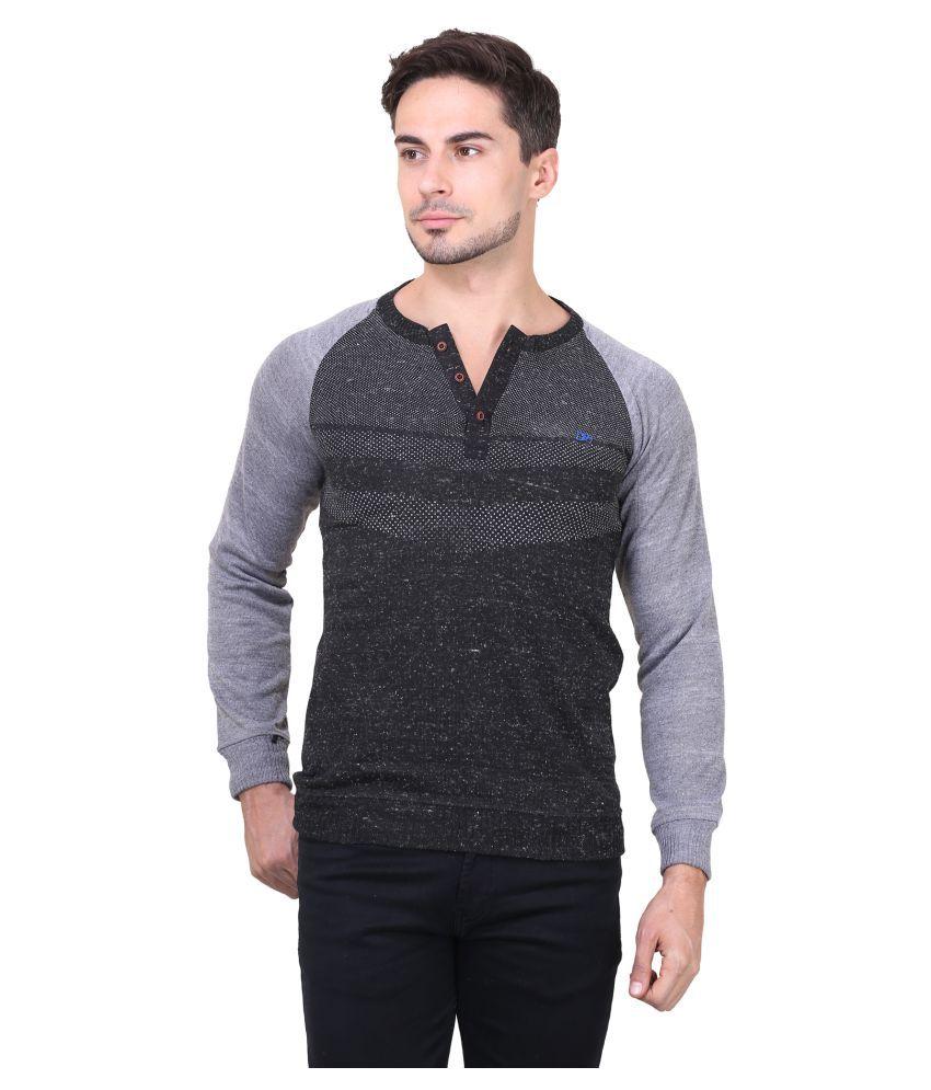 Bravezi Black Henley T-Shirt