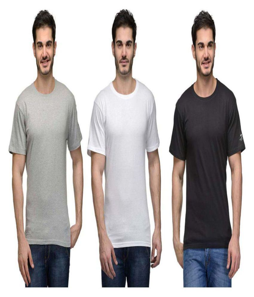 Hi Lifestyles Multi Round T-Shirt Pack of 3