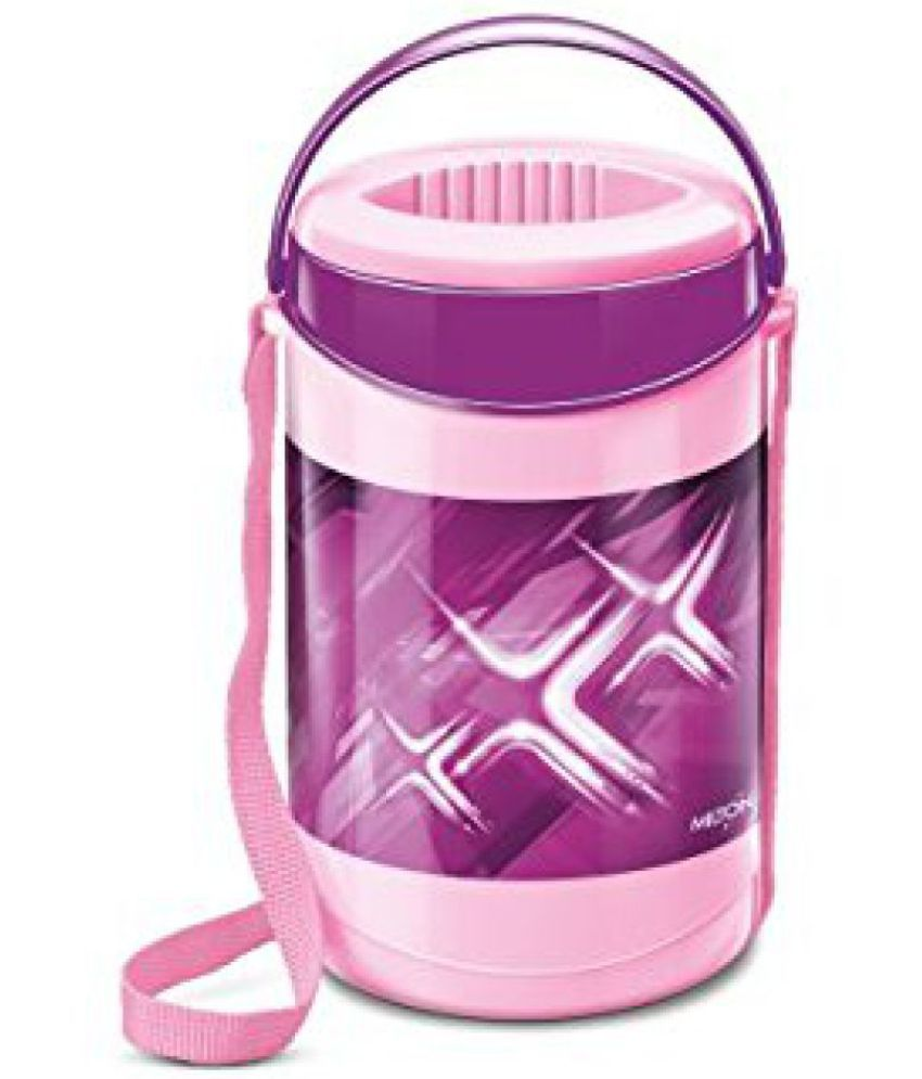 Milton Lunch Box For Office Hot 4 Container Econa Deluxe 4container Purple Pink