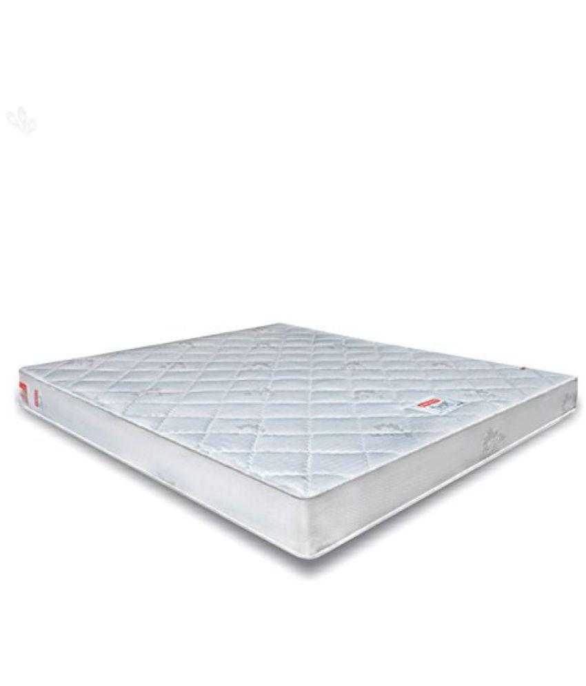 Coirfit Twin Plus 6 Inch King Size Memory Foam Mattress Off White