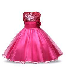 Sofyana Pink Satin New Fashion Sequin Flowers Ball Gown