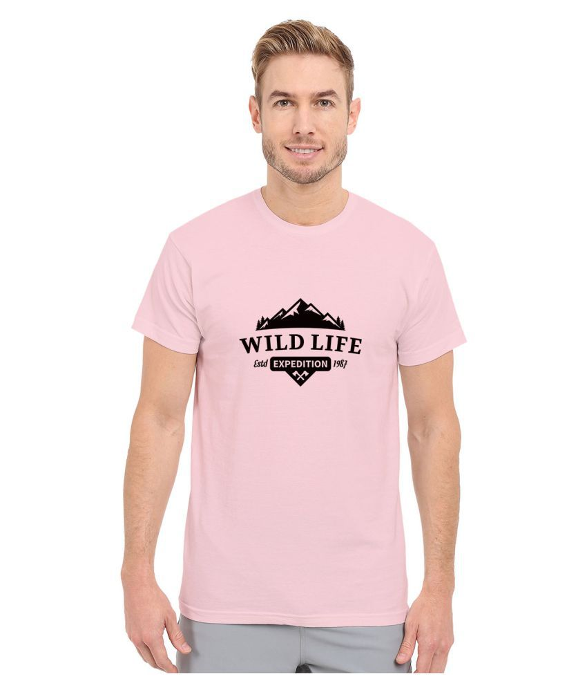 Redfool Fashions Pink Round T-Shirt