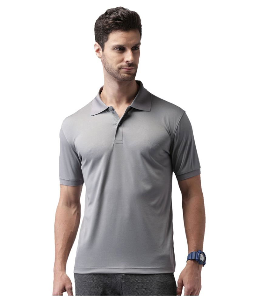 2go Grey Polyester Polo T-Shirt Single Pack