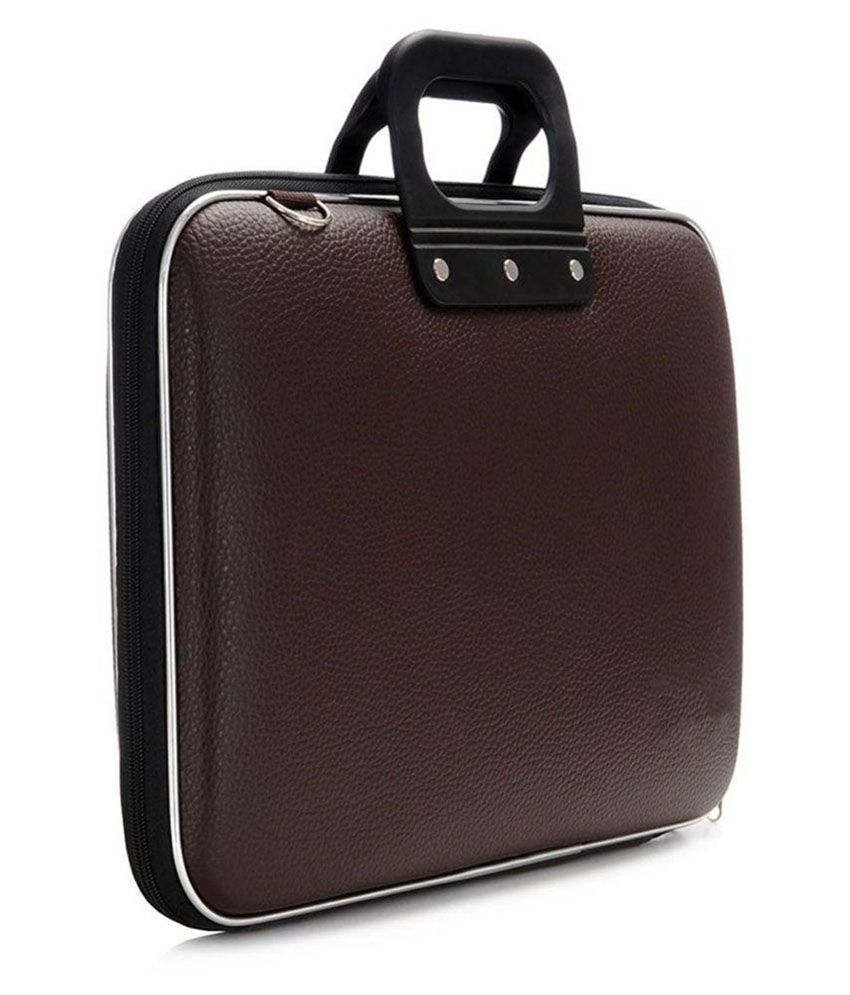 La Corsa Brown P U Leather Office Laptop Bag 15 To 16 Inch Sling