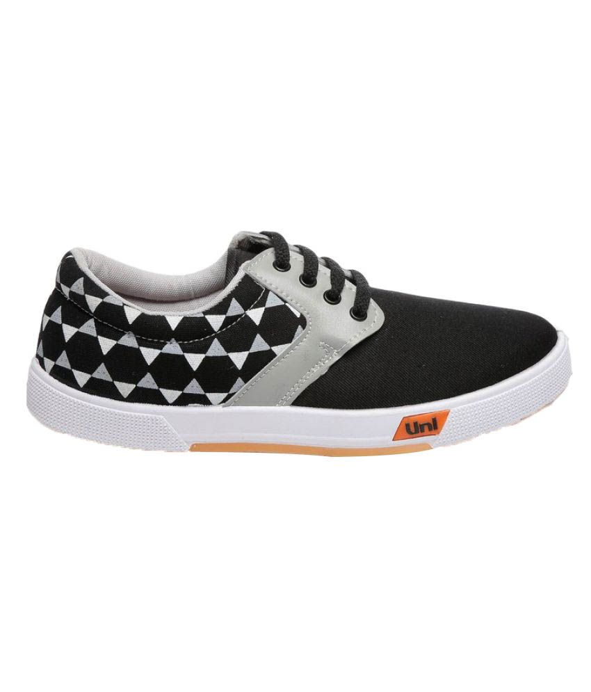 Unistar Canvas Sneakers Black Casual Shoes