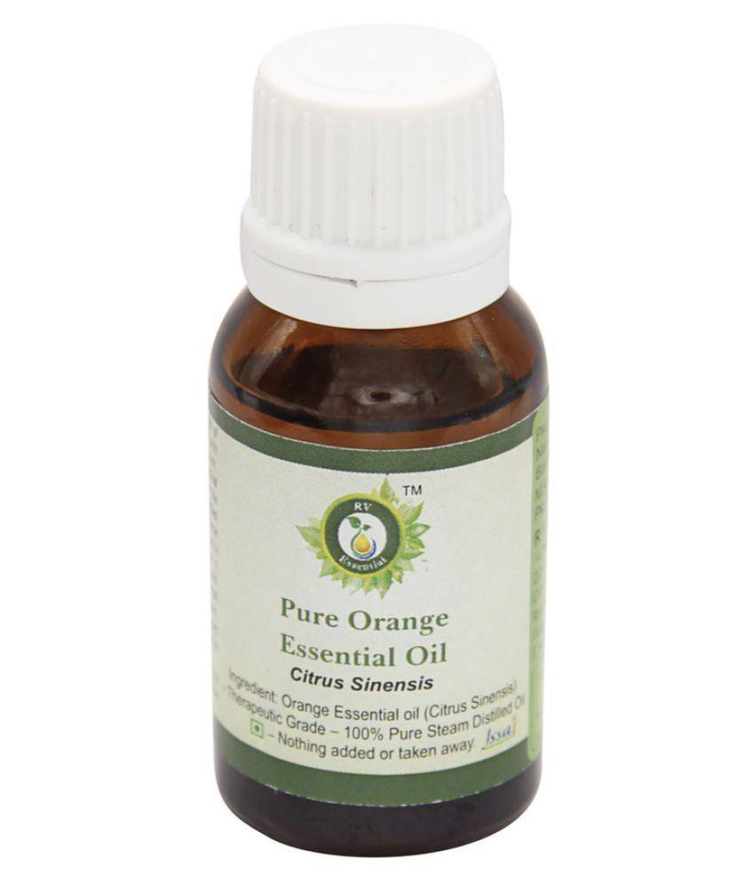 R V Essential Pure Orange Essential Oil 100ml- Citrus Sinensis Essential Oil With Dropper 100 ml