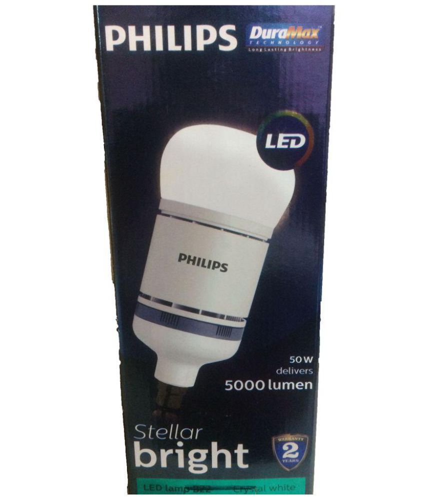 Philips 50w Single Led Bulbs Cool Day Light