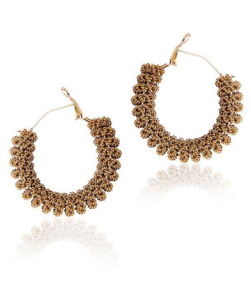 Styylo Jewels Golden Hoop Earrings