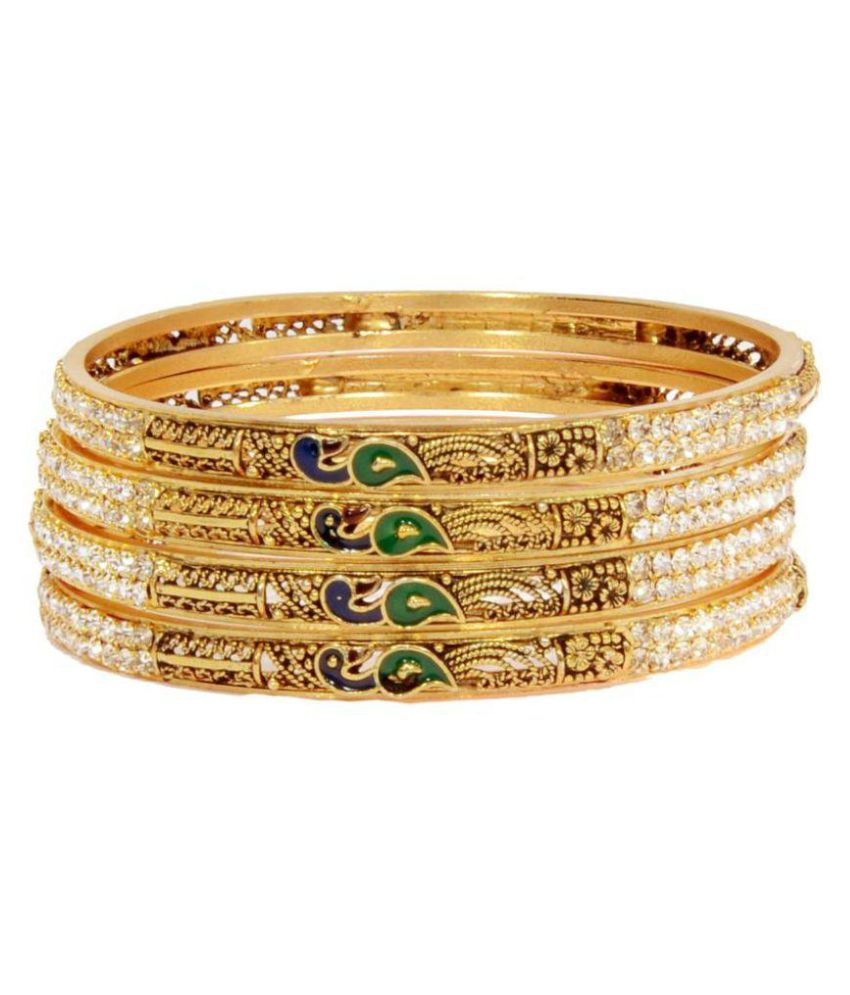 Atishya Shri Golden Bangle (4 Pieces)