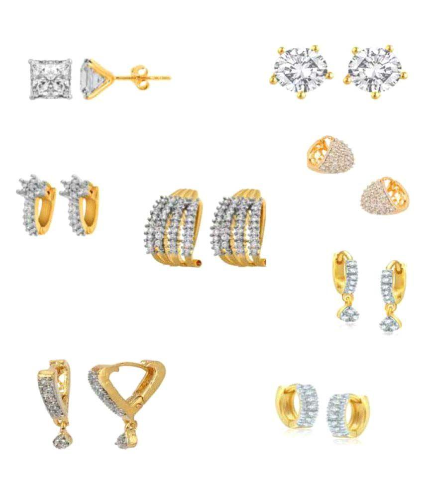 Jewels Gehna Golden Earrings - Pair of 8
