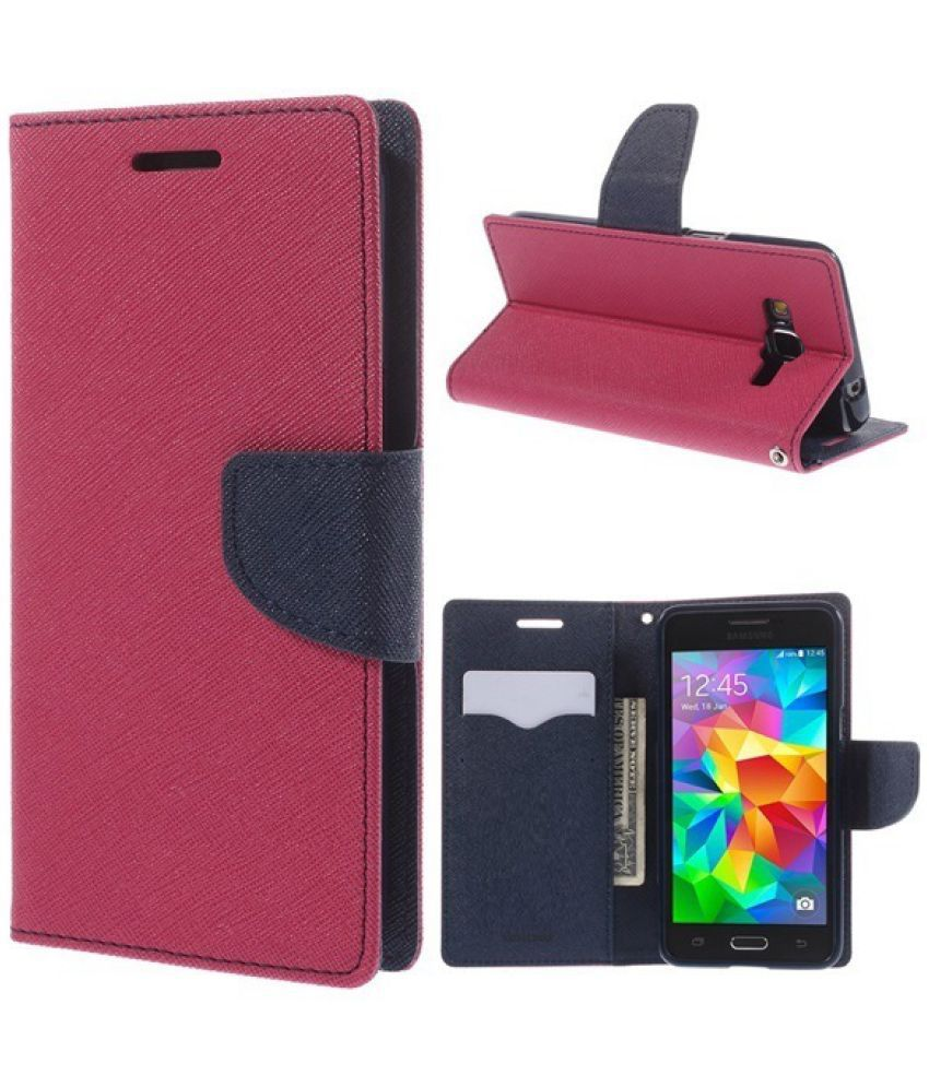 Samsung Galaxy Grand 2 Flip Cover by Trap - Pink
