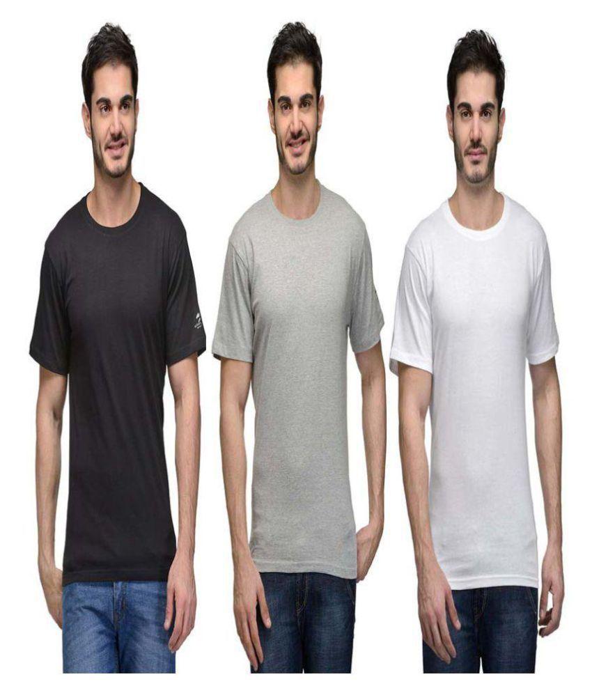 Hi Lifestyles Multi Round T-Shirt Pack of 3