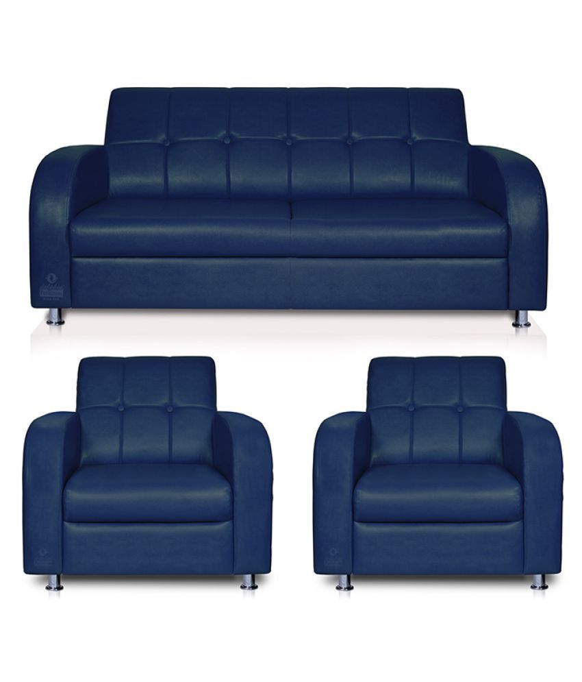 Dolphin Atlanta Leatherette 2+1+1 Seater Sofa Set