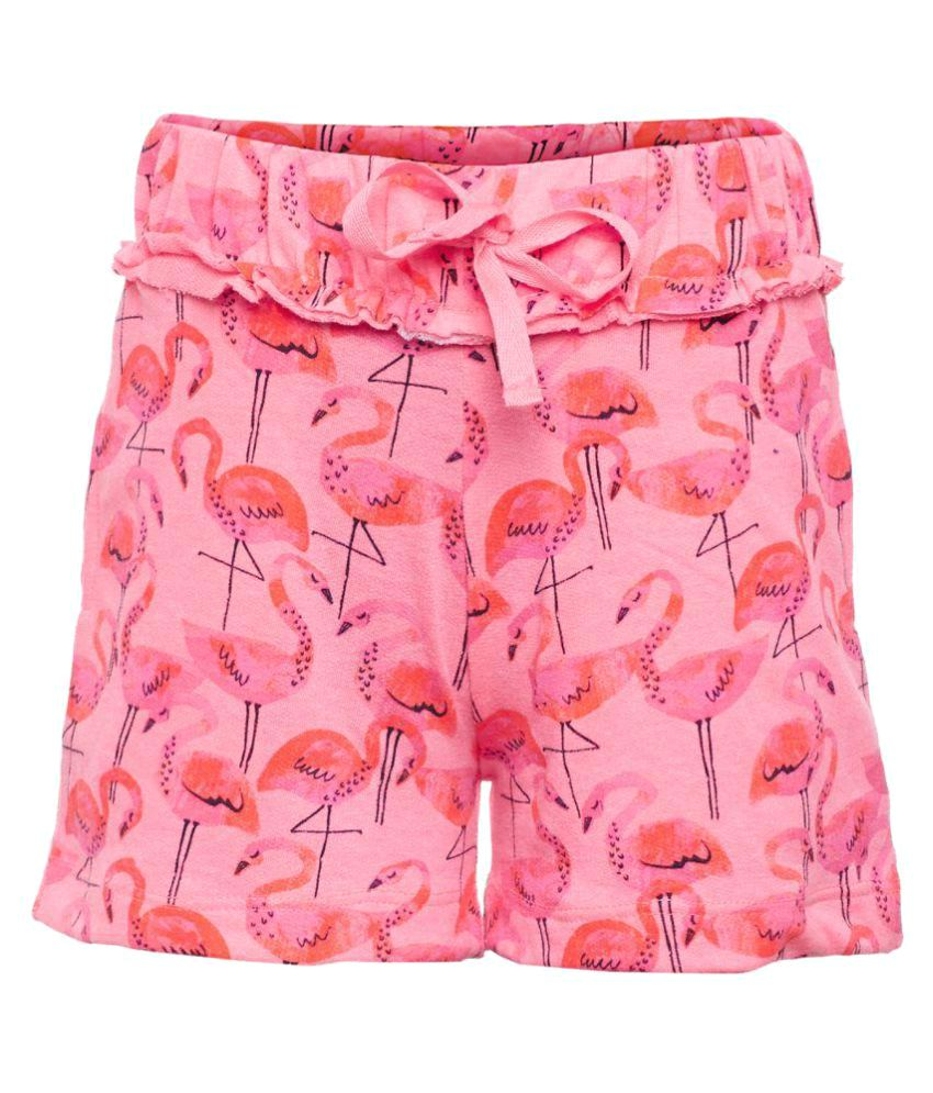 Sera Neon Pink Cotton Girls Shorts