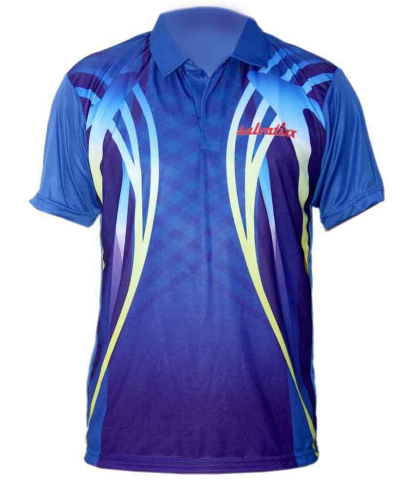 Salvatixx Blue Polyester Polo T-Shirt Single Pack