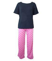 Sweet Dreamers Multicolor Cotton Night Suit Set