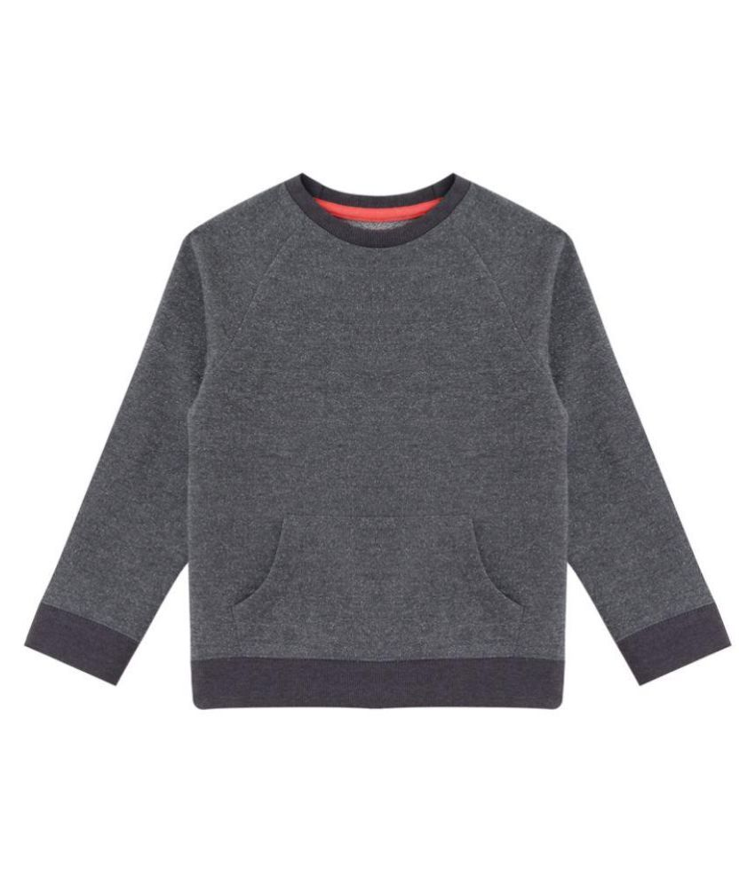Minitog Gray Cotton Sweatshirt