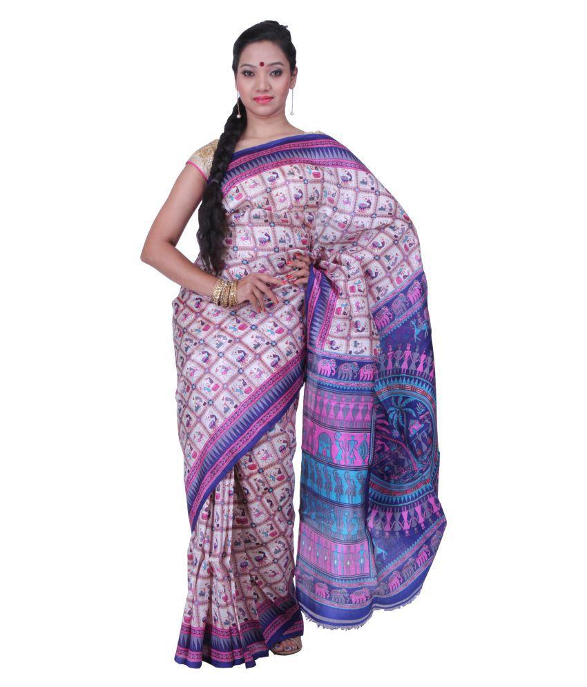 Sanrocks Global Fashions Multicoloured Silk Saree