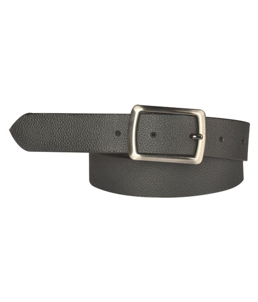 Saugat Traders Black Leather Casual Belts