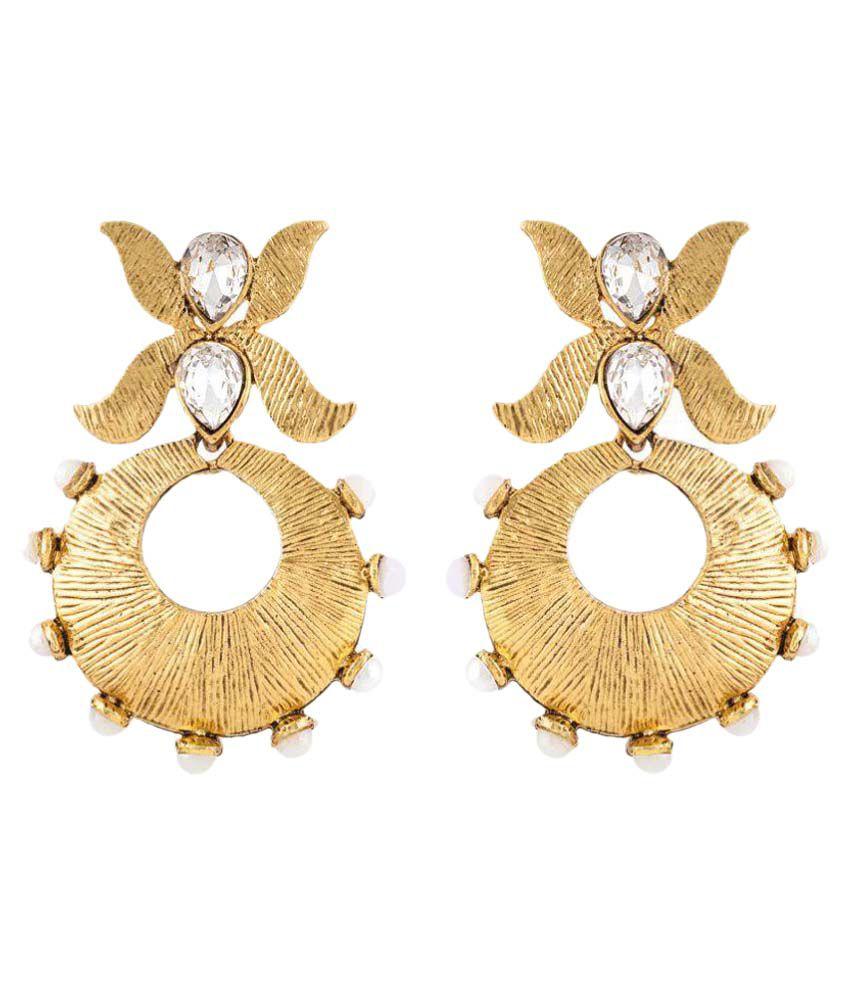 Angel In You Golden Hanging Earrings