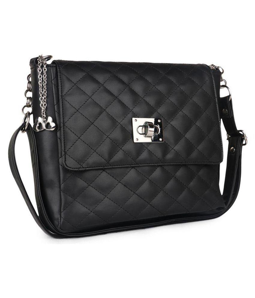 Ecco Black P.U. Sling Bag