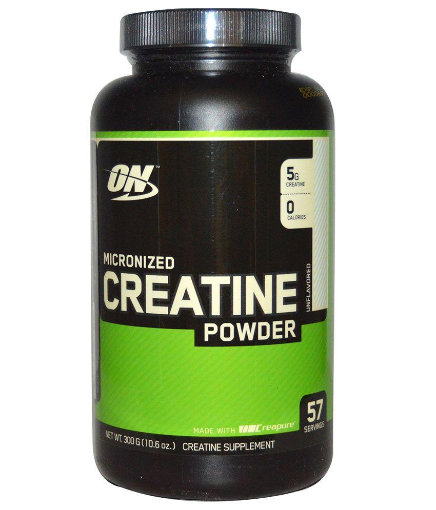 On micronized creatine monohydrate