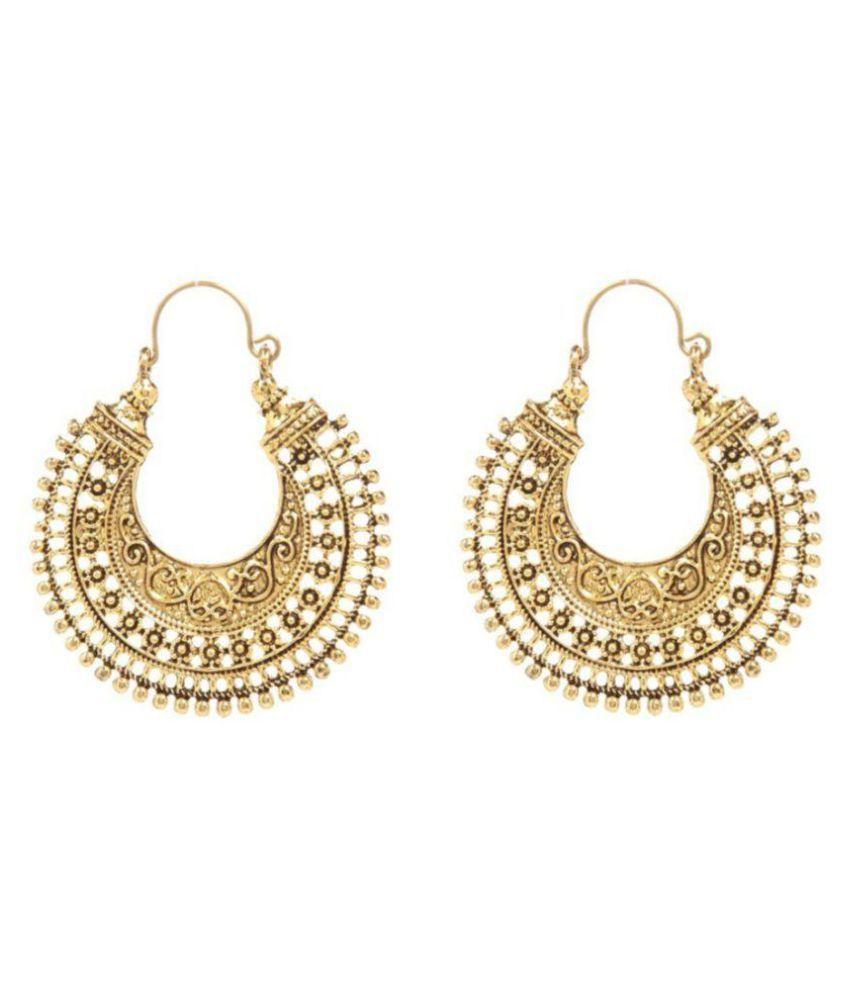 Jewels Guru Exclusive Golden Earring