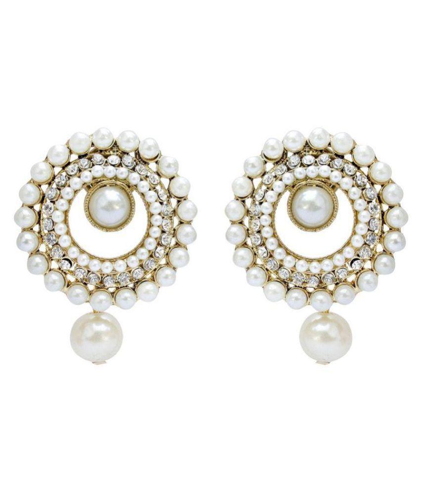 Jewels Capital White Earrings