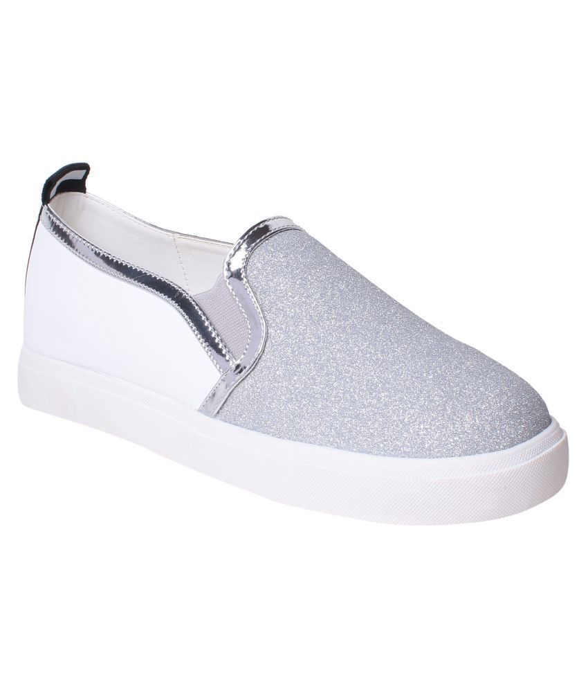MSC Silver Casual Shoes
