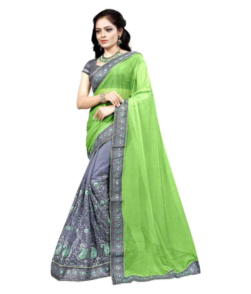 Oin Creation Multicoloured Net Saree