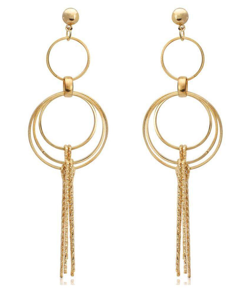 Spargz Golden Hanging Earrings For Women