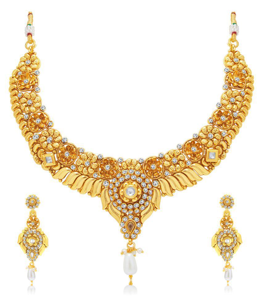 Sukkhi Golden Necklace Set