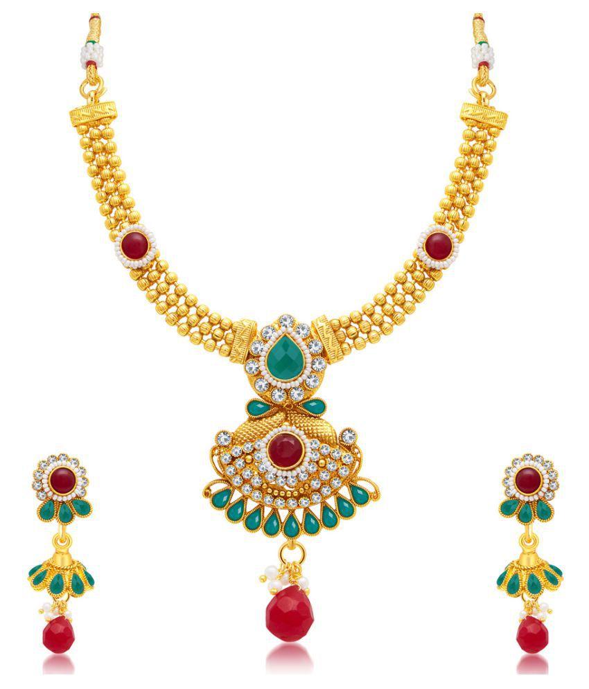Sukkhi Multicolor Necklace Set
