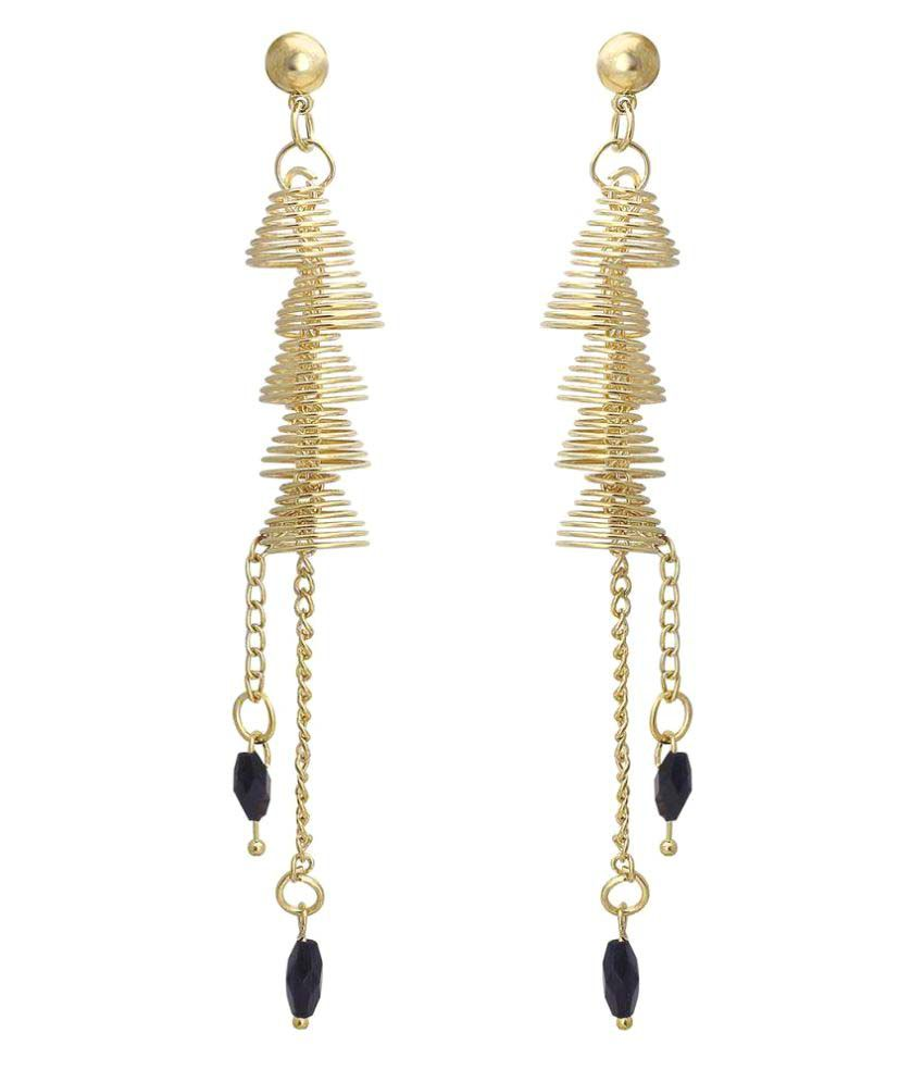 Spargz Golden Hanging Earrings