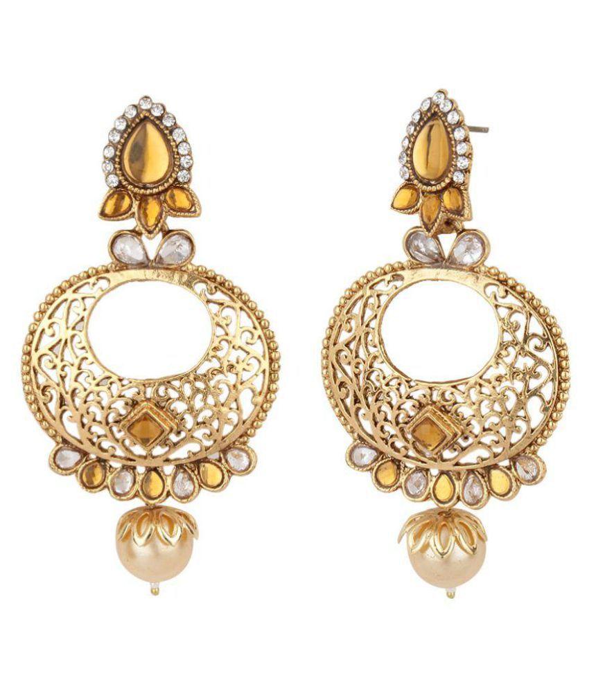 Jewels Guru Exclusive Golden Earrings Set
