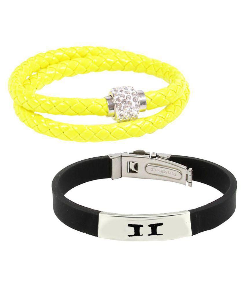 Alpha Man Multicolour Bracelet - Pack of 2